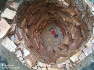Chulisimo Algibe con acceso de escalera espiral en piedra
